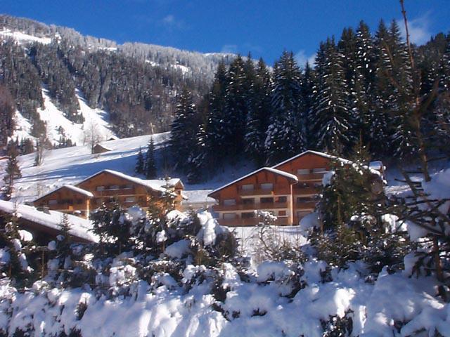 Vacances en montagne Résidence les Tyroliens - Châtel - Extérieur hiver
