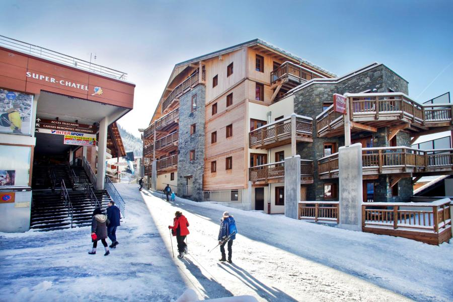 Vacances en montagne Résidence Prestige les Fermes de Châtel - Châtel - Extérieur hiver