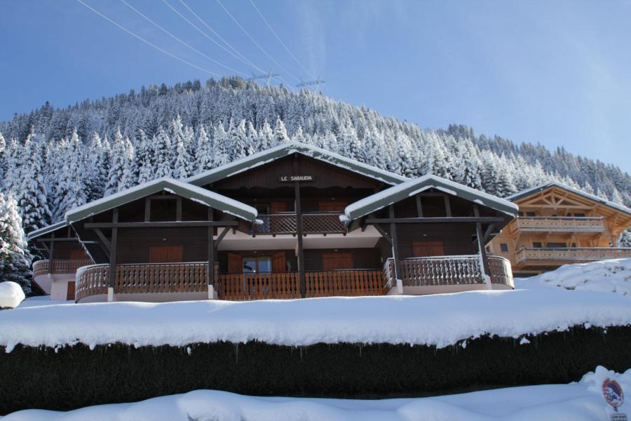 Wakacje w górach Résidence Sabaudia - Châtel - Zima na zewnątrz