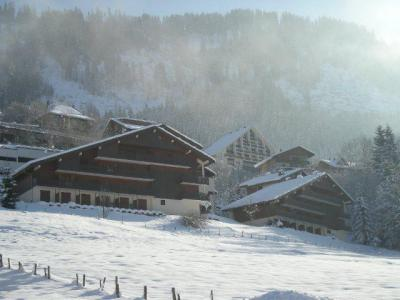 Vacances en montagne Résidence des Gentianes - Châtel - Extérieur hiver