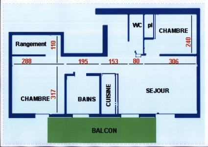 Rent in ski resort 3 room mezzanine apartment 7 people (7) - Résidence Echo des Montagnes - Châtel - Plan