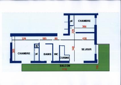 Rent in ski resort 3 room apartment 6 people (6) - Résidence Echo des Montagnes - Châtel - Plan