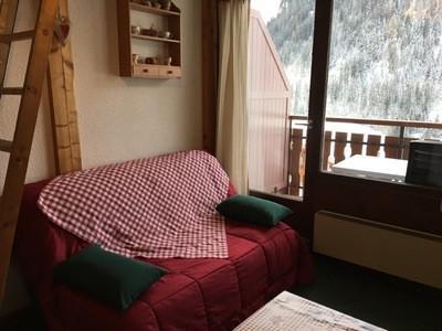 Rent in ski resort Studio mezzanine 3 people (17A) - Résidence la Toison Blanche - Châtel - Living room