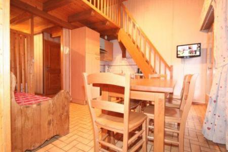 Rent in ski resort 3 room duplex apartment 6 people (5) - Résidence le Balcon des Alpes - Châtel - Table