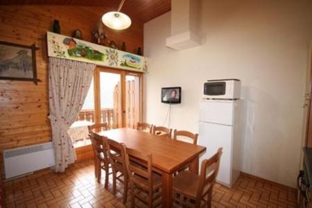 Rent in ski resort 4 room duplex apartment 8 people (6) - Résidence le Balcon des Alpes - Châtel - Table