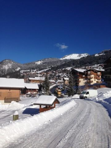 Rent in ski resort 2 room apartment sleeping corner 5 people (1) - Résidence le Bouquetin - les Jonquilles - Châtel - Winter outside