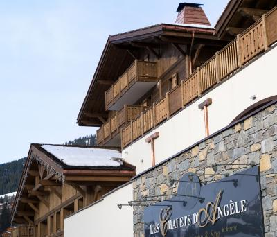 Rent in ski resort Résidence les Chalets d'Angèle - Châtel - Winter outside