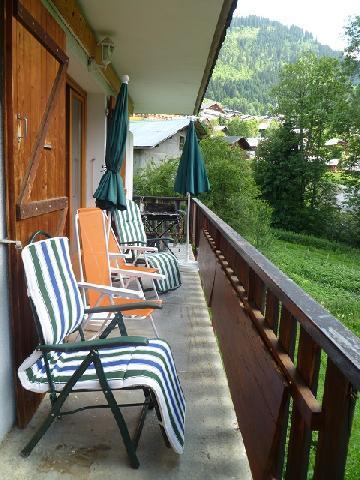 Rent in ski resort 3 room apartment sleeping corner 6 people (MAR001) - Résidence les Marguerites - Châtel - Balcony
