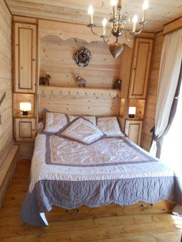 Rent in ski resort 3 room apartment sleeping corner 6 people (MAR001) - Résidence les Marguerites - Châtel - Double bed