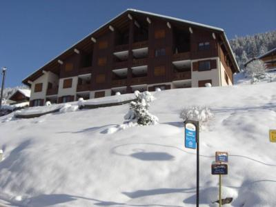 Rent in ski resort 2 room apartment sleeping corner 5 people (002) - Résidence les Sorbiers - Châtel - Winter outside