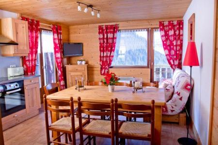 Rent in ski resort 3 room apartment 7 people (CAN004) - Résidence Lou Candres - Châtel - Dining area
