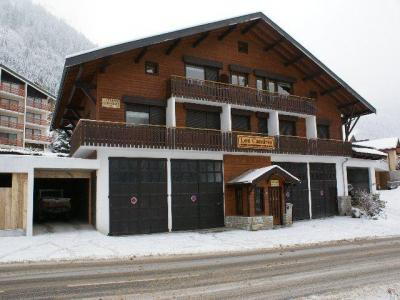 Rent in ski resort Studio sleeping corner 3 people (CAN001) - Résidence Lou Candres - Châtel - Winter outside