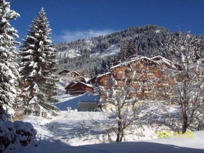 Rent in ski resort 2 room apartment sleeping corner 4 people (PNG009D) - Résidence Perce Neige - Châtel - Winter outside