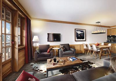 Location au ski Appartement 2 pièces cabine 6 personnes (2P6C) - Residence Prestige Les Fermes De Chatel