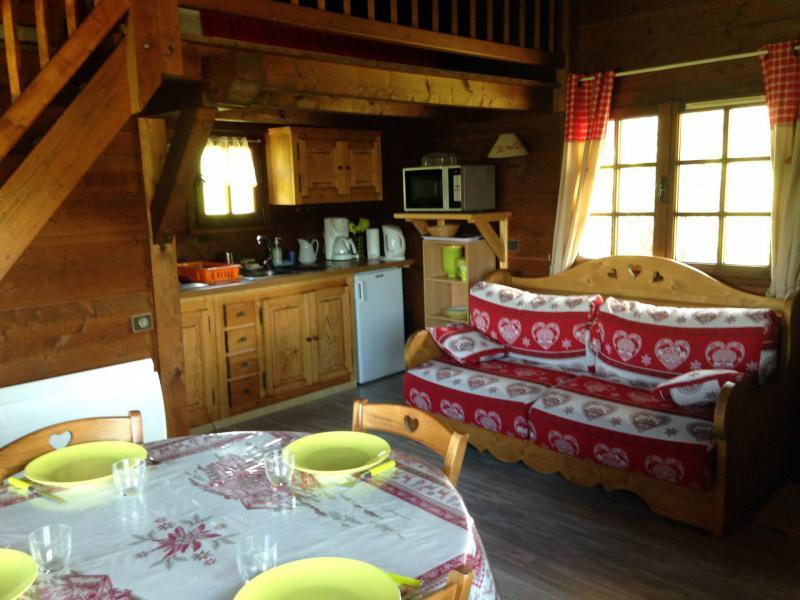 Ski verhuur Chalet 1 kamers mezzanine 4 personen - Chalet de la Princesse - Combloux - Woonkamer