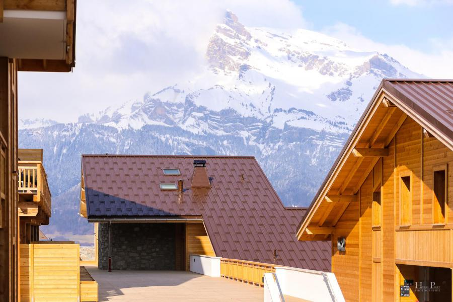 Location au ski Résidence les Fermes du Mont Blanc - Combloux - Extérieur hiver