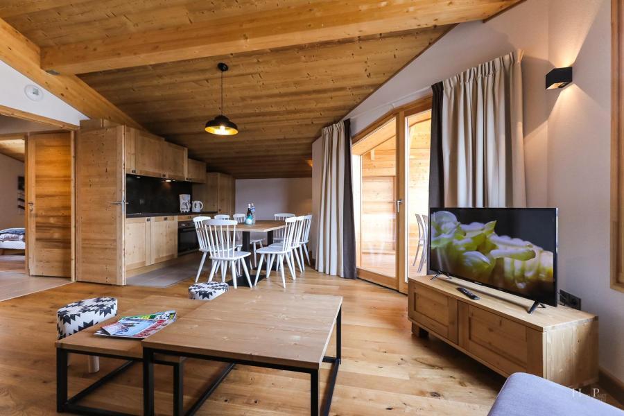 Location au ski Résidence les Fermes du Mont Blanc - Combloux - Coin repas