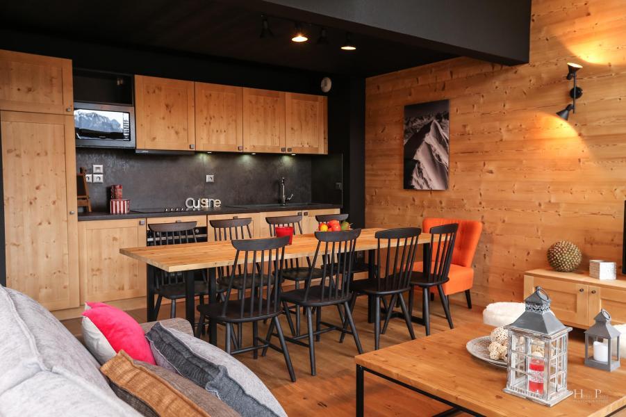 Location au ski Résidence les Fermes du Mont Blanc - Combloux - Cuisine ouverte