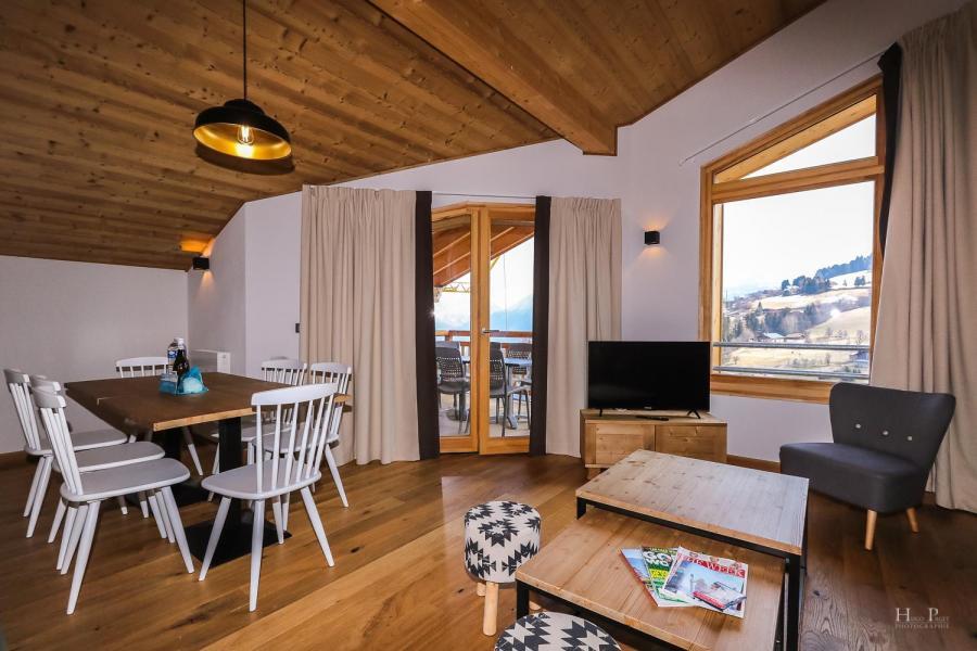 Location au ski Résidence les Fermes du Mont Blanc - Combloux - Fenêtre