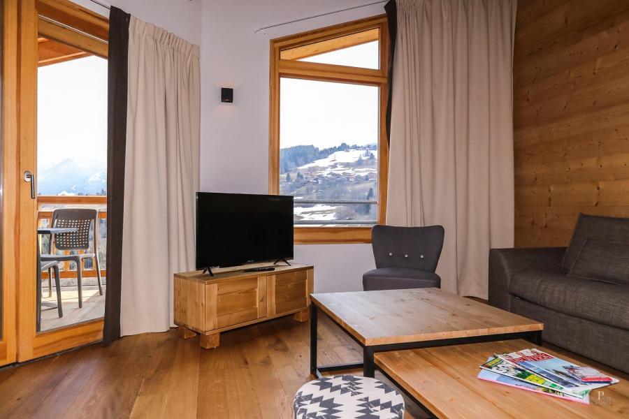 Location au ski Résidence les Fermes du Mont Blanc - Combloux - Séjour