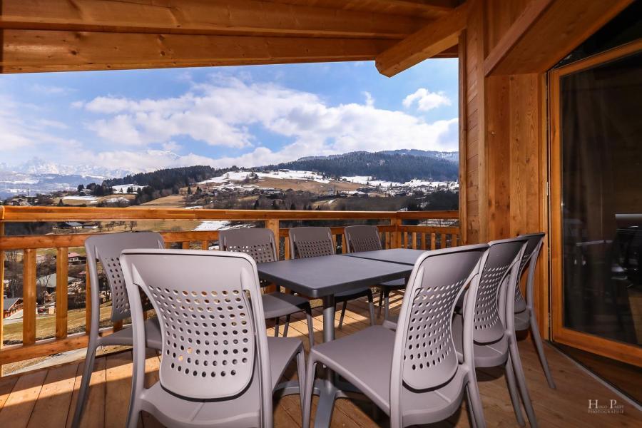 Location au ski Résidence les Fermes du Mont Blanc - Combloux - Terrasse