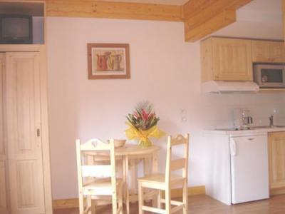 Location au ski Studio 2 personnes - Residence La Grande Cordee - Combloux - Coin repas