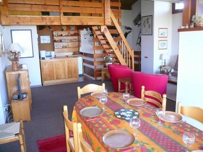 Аренда на лыжном курорте Апартаменты 2 комнат с мезонином 7 чел. (51) - Résidence les Cristaux du Haut - Combloux - Салон