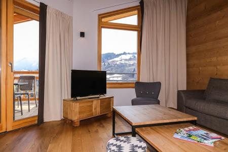 Rent in ski resort Résidence les Fermes du Mont Blanc - Combloux - Living room
