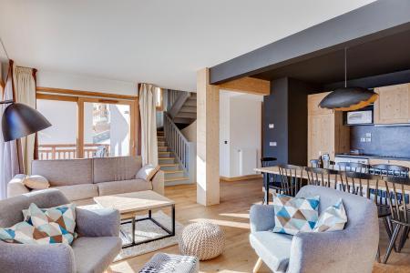 Rent in ski resort Semi-detached 5 room chalet 10 people (triplex) - Résidence les Fermes du Mont Blanc - Combloux - Living room