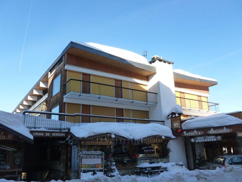 Location au ski Studio 2 personnes (506A) - Residence Croix Des Verdons - Courchevel - Extérieur hiver