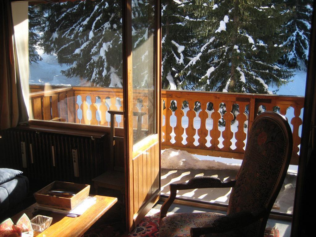 Location au ski Studio 3 personnes (RMIO202) - Residence La Roche De Mio - Courchevel - Balcon