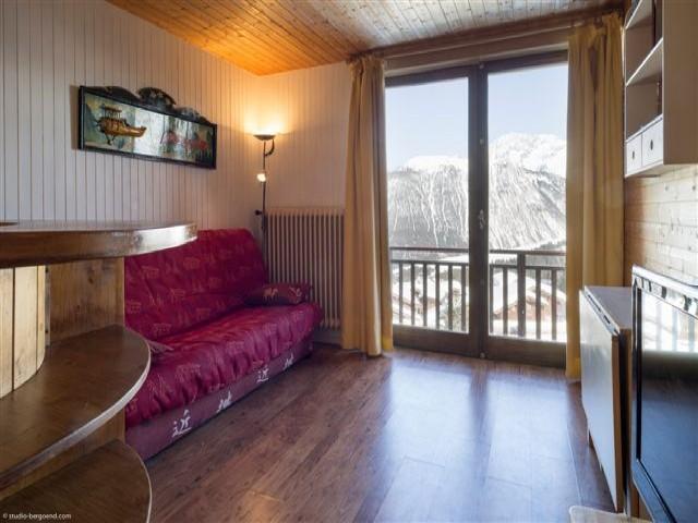 Ski verhuur Studio cabine 4 personen (22) - Résidence le Plein Est - Courchevel - Woonkamer
