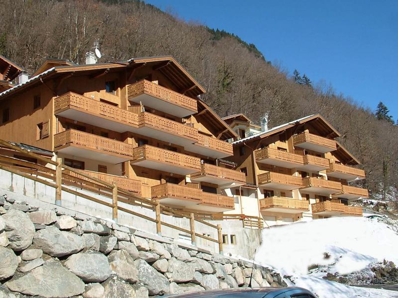 Wakacje w górach Résidence les Chalets du Ponthier - Courchevel - Zima na zewnątrz