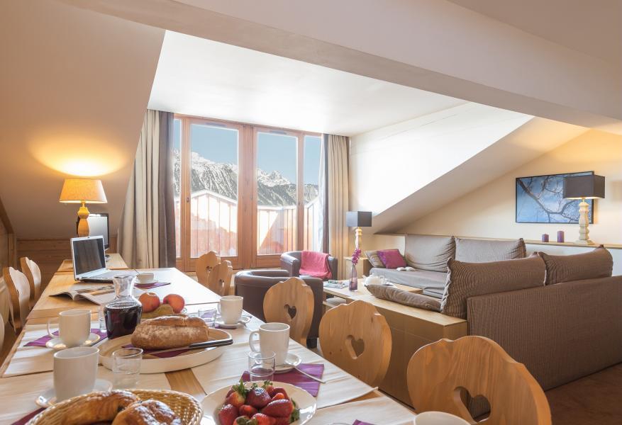 Ski verhuur Résidence P&V Premium les Chalets du Forum - Courchevel - Eetkamer