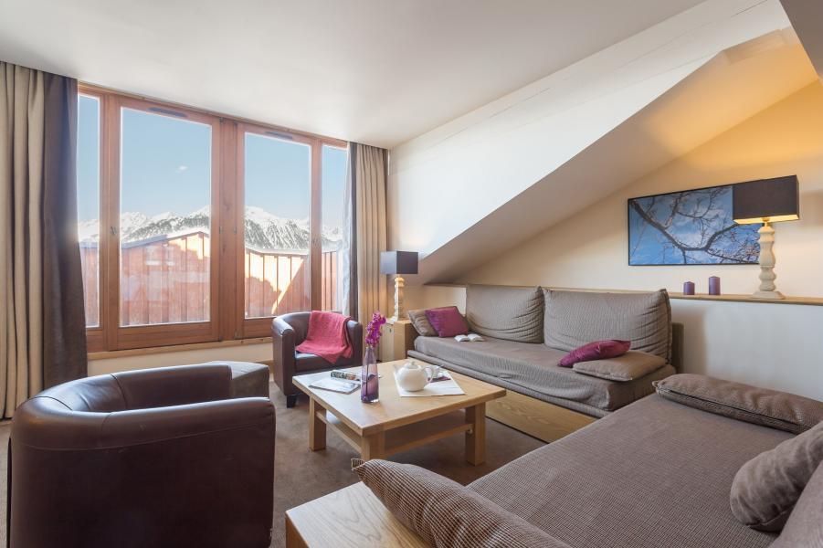 Ski verhuur Résidence P&V Premium les Chalets du Forum - Courchevel - Woonkamer