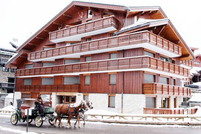 Vacances en montagne Appartement 2 pièces coin montagne 5 personnes (18) - Résidence Roc - Courchevel - Extérieur hiver