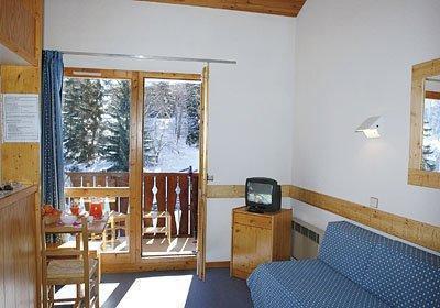Location au ski Residence Les Brigues - Courchevel - Séjour