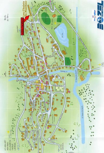 Rent in ski resort Résidence les Chalets du Ponthier - Courchevel - Plan