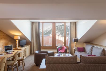 Location au ski Residence P&v Premium Les Chalets Du Forum - Courchevel - Coin séjour