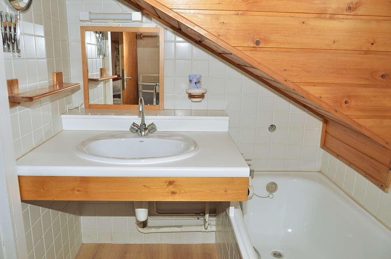 Location au ski Appartement duplex 3 pièces cabine 8 personnes (C1) - Chalet De L'arbaron - Flaine - Salle d'eau