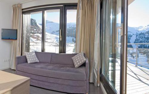 Location au ski Residence Les Terrasses De Veret - Flaine - Séjour