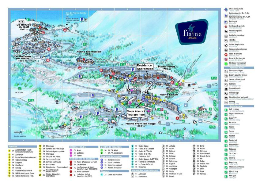 Rent in ski resort La Résidence Andromède - Flaine - Plan