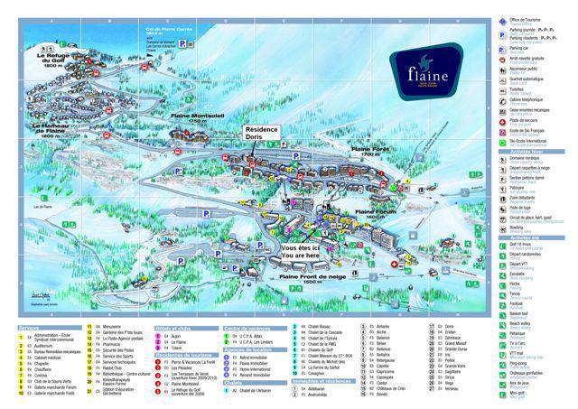 Аренда на лыжном курорте La Résidence Doris - Flaine - план