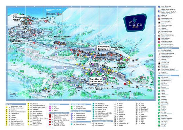 Аренда на лыжном курорте La Résidence Gémeaux - Flaine - план