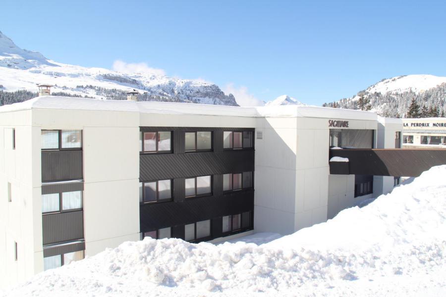 Vacances en montagne La Résidence Sagittaire - Flaine - Extérieur hiver