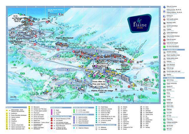 Аренда на лыжном курорте La Résidence Sagittaire - Flaine - план