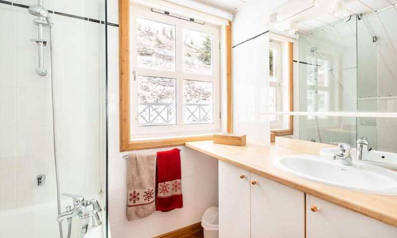 Vacances en montagne Chalet 5 pièces 8 personnes (Prestige 110m²) - Les Chalets de Flaine Hameau - Maeva Home - Flaine - Extérieur hiver