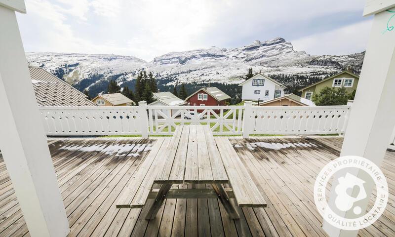 Location au ski Chalet 5 pièces 8 personnes (Prestige 110m²) - Les Chalets de Flaine Hameau - Maeva Particuliers - Flaine - Extérieur hiver