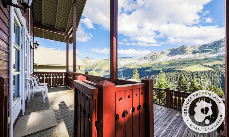 Location au ski Chalet 3 pièces cabine 8 personnes (Confort 70m²) - Les Chalets de Flaine Hameau - Maeva Particuliers - Flaine - Balcon