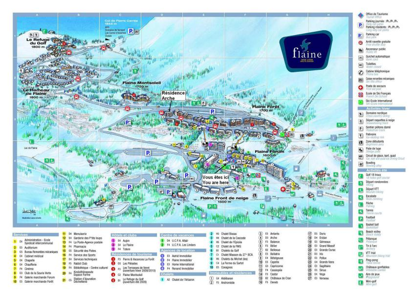 Аренда на лыжном курорте Résidence Arche - Flaine - план
